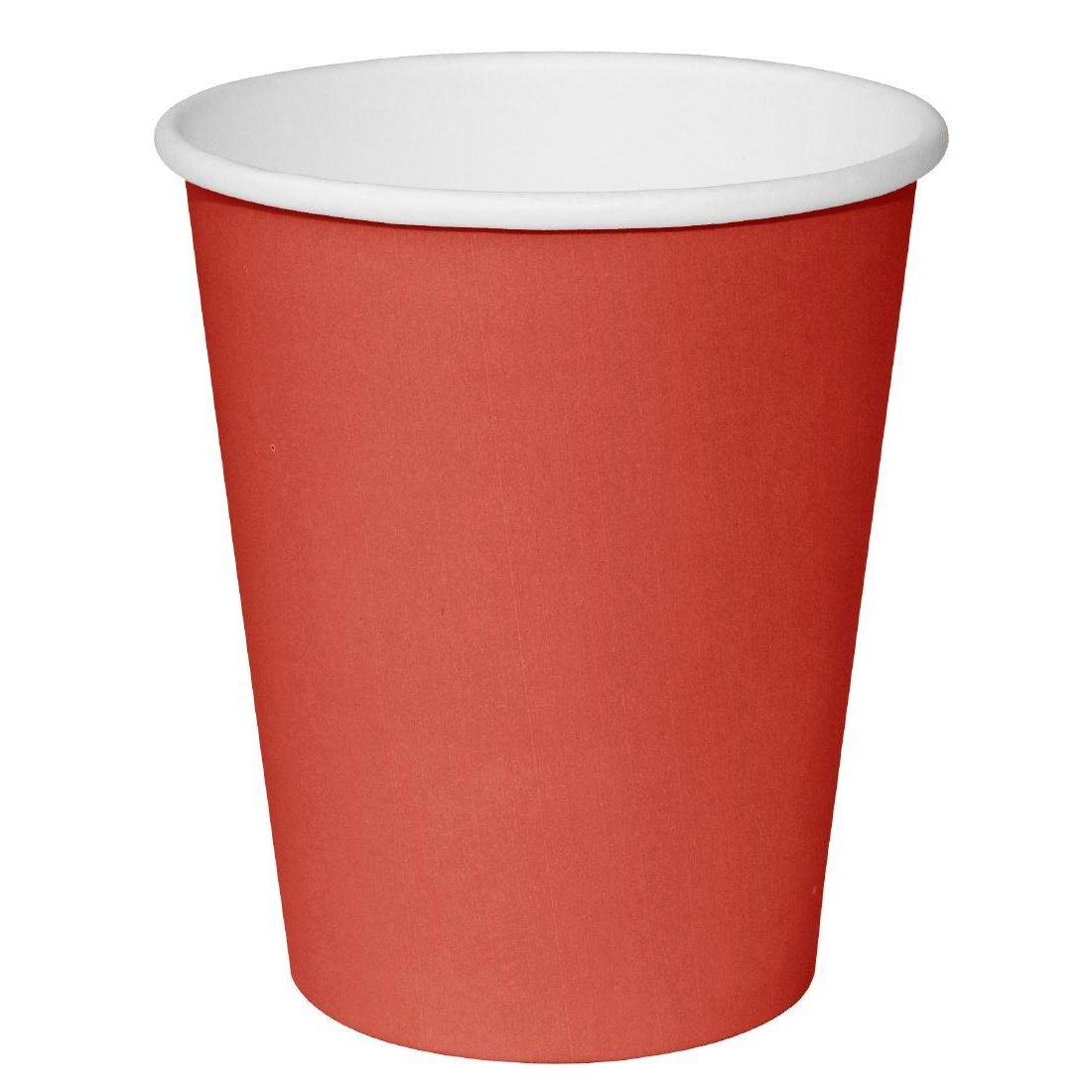 Beverage Disposable Single Wall Paper Cups Unique Red Color