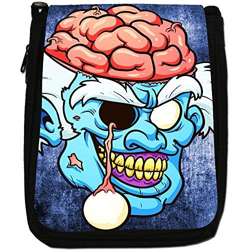 Size Dead Canvas Medium Out Bag Shoulder Walking Zombie Living Hanging Eye Scary Black Grandpa z1HAqgxZ