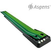 Asgens Golf Putting Trainer,Indoor / Outdoor Golf Auto Return Putting Trainer Mat
