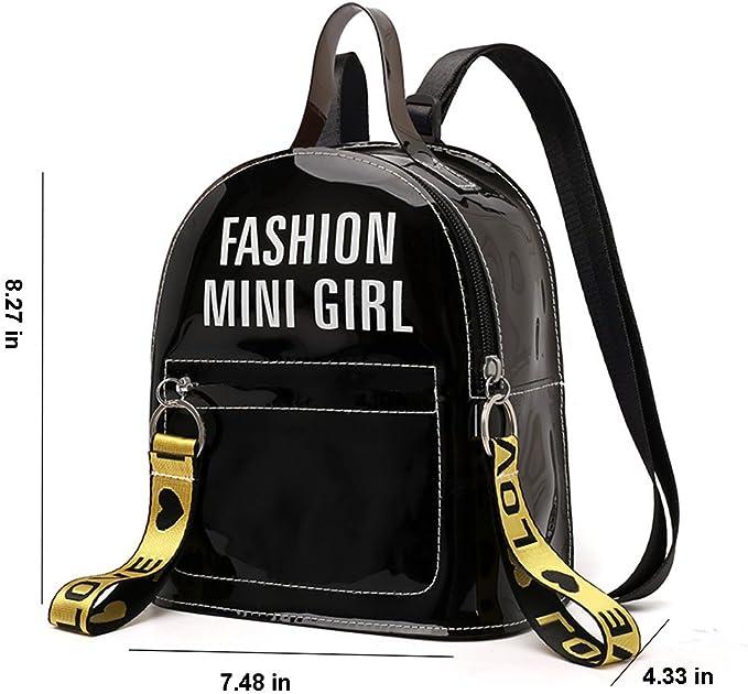 Vintage New Old Stock Mini Clear Vinyl Backpack  Goody Bag Starter Kit  Small Stadium Bag