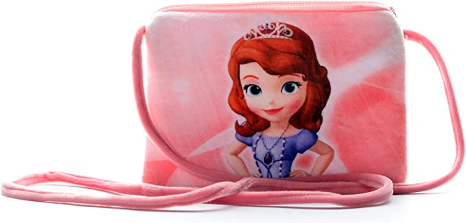 HC Toys Happy Club Rapunzel Princesses Soft Canvas Material Sling Bag for Girls (Pink)