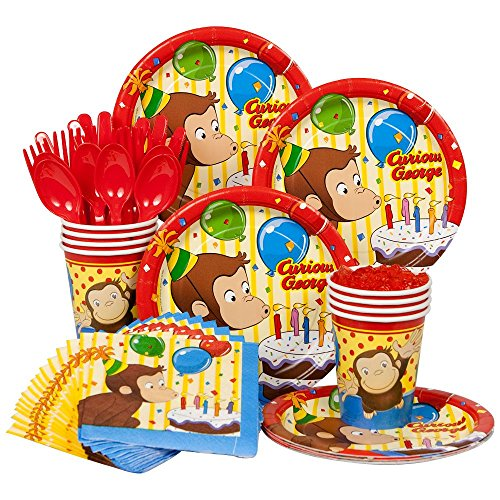 [Curious George Birthday Standard Kit Serves 8 Guests] (Costumes Curious George)