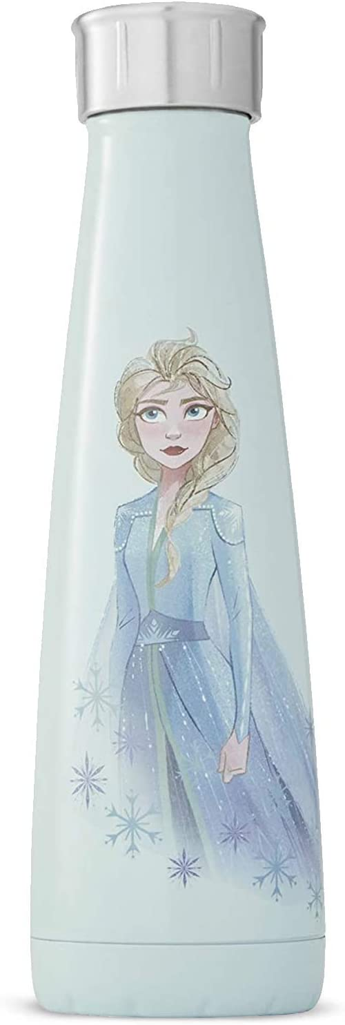 S'ip by S'well Stainless Steel Bottle-15 Fl Oz-Mighty Elsa Double-Layered Vacuum-Insulated Food and Drinks Cold and Hot - with No Condensation - BPA-Free Water Bottle