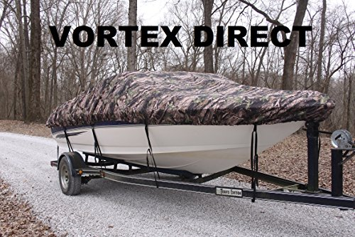 NEW Vortex Heavy DutyCAMO / CAMOUFLAGE Vhull Fish Ski Runabout Cover for 16 - 17 1/2 ' Boat (FAST SHIPPING - 1 TO 4 BUSINESS DAY DELIVERY)
