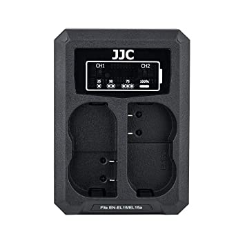 JJC USB Dual Battery Charger for Nikon Z6 Z7 D850 D750 D610 D600 D500 D7500  D7200 D7100 D7000 D810A D810 D800E D800 etc  Cameras Replaces Nikon