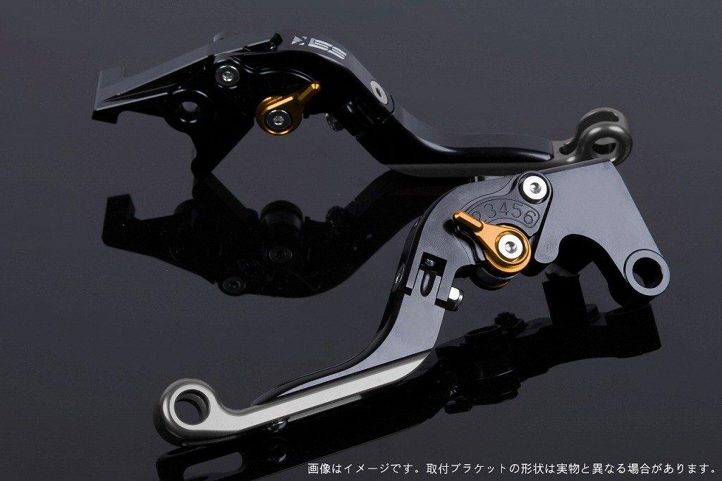 SSK アジャストレバー 可倒延長式 レバー本体カラー:ブラック アジャスターカラー:ゴールド エクステンションカラー:チタン YZF-R6 2017- YA0407165-GDTM B07MXBZHG6