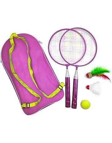 2 Joueur Raquette de tennis Ensemble avec boules en aluminium de Jardin en Métal étui de transport