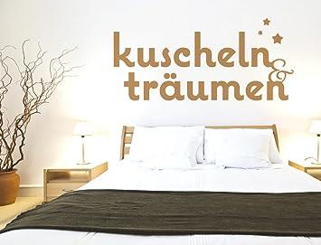 Wandtattoo Schlafzimmer Wandworte Kuscheln und träumen Schlafzimmer ...