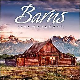 2018 barns wall calendar
