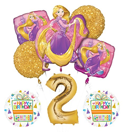 NEW! Tangled Rapunzel Disney Princess 2nd BIRTHDAY PARTY Balloon decorations supplies