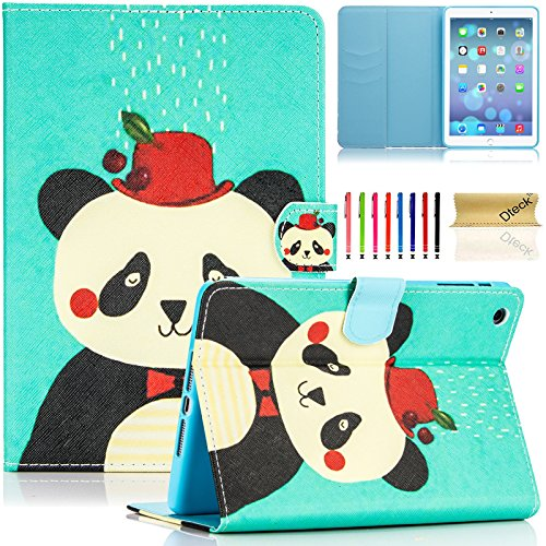 iPad Mini 2&3 Case, iPad Mini Case, Dteck(TM) Slim Fit [Stylus Holder] Flip Folio Stand Leather Case with Auto Sleep/Wake Feature Wallet Cover for Apple iPad Mini 1/2/3 (Pretty Panda)