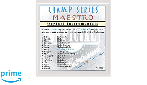 Jon-Q. & Towanta - Champ Series Maestro - Amazon.com Music