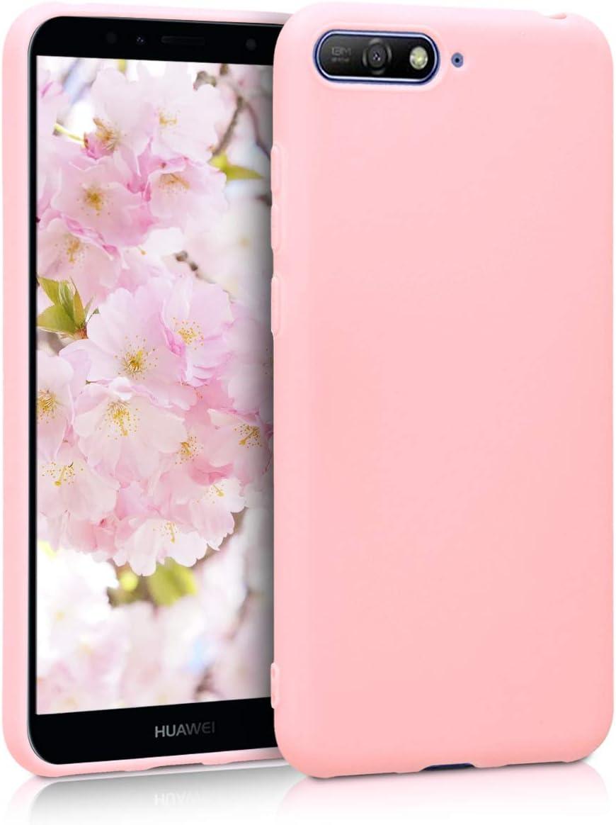 kwmobile Coque pour Huawei Y6 (2018) - Coque Housse Protectrice pour Téléphone en Silicone Or rosé Mat