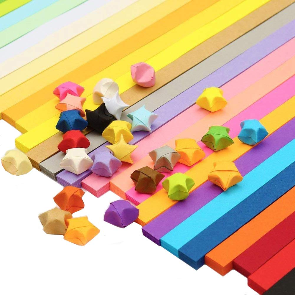 2340 Sheets Origami Stars Paper Double Sided 25 Colors Decoration Paper Strips Jallysia 4336880665