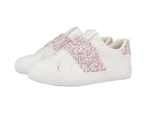 Gioseppo Bandie, Zapatillas Sin Cordones para Niñas, Blanco (White/Pink), 37 EU