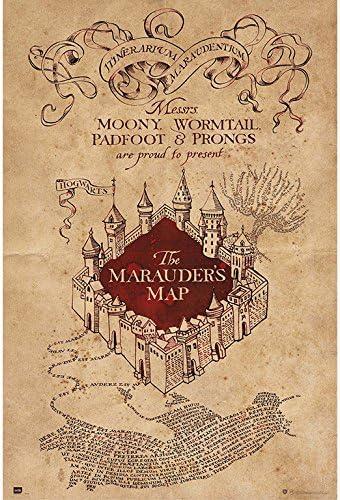 harry potter carte du maraudeur Amazon.: Grupo Erik editores  Poster Harry Potter The