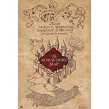 Grupo Erik editores- Poster Harry Potter The Marauders Map: Amazon ...
