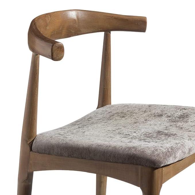 Silla de Comedor tapizada de Madera marrón clásica para ...