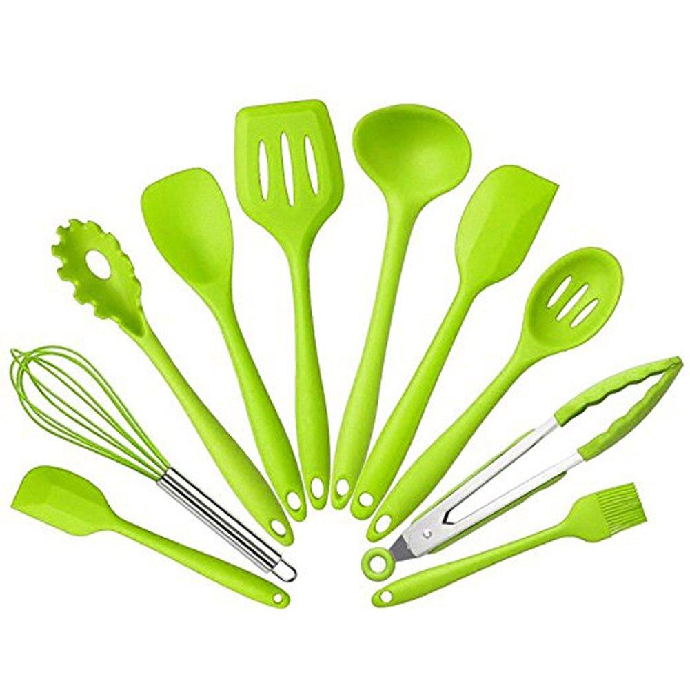 ENKO Silikon Küchenhelfer, 10 Stück, Hitzebeständiger Küchen-Set ...