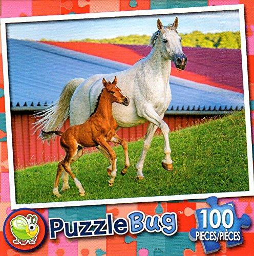 Mommy and赤ちゃんファームHorses Mommy – Puzzlebug – – Puzzlebug 100ピースジグソーパズル B079RP81NS, ラグカーペット専門店 ゆうあい:f092af7b --- ero-shop-kupidon.ru