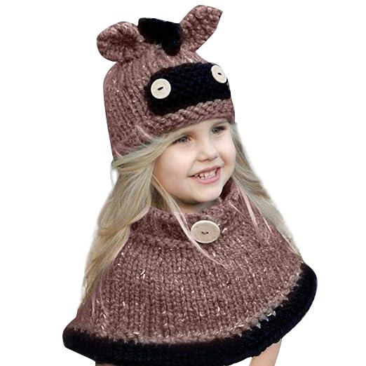 ff2b5da62fcc Amazon.com  Stylish Unisex Boys Girls 2 PC Knit Cap Scarf Set ...