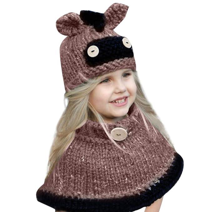 Mütze Schal Setkleinkind Girl Boy Baby Wintermütze Strickmützen
