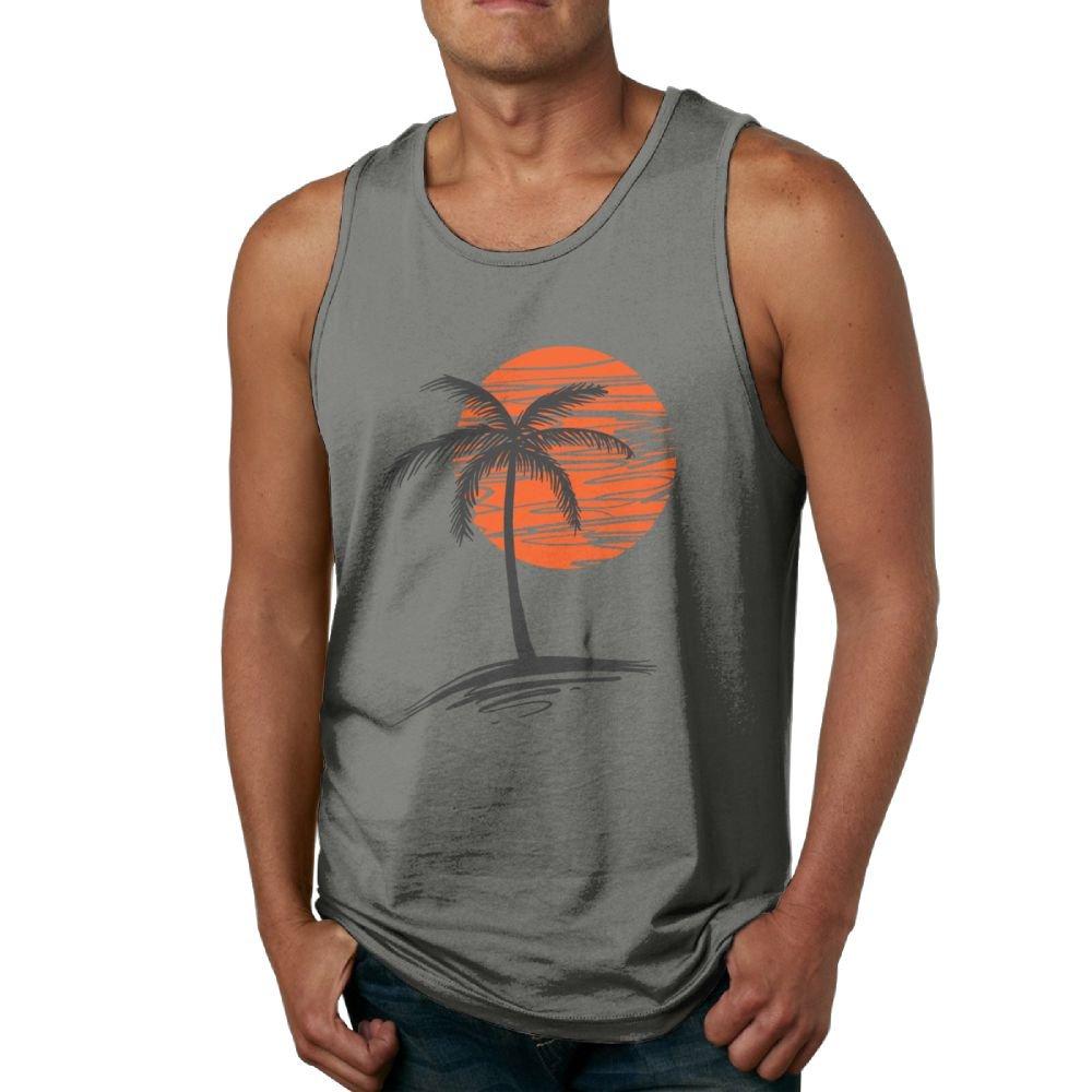 Palm Tree Men Sport Tanks Tops T-shirt