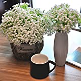 SHINE-CO Artificial Baby Breath 10 Pcs White Flowers for Home Party Wedding Decoration