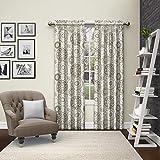 Pairs to Go 15616056X084NEU Bradway 56-Inch by 84-Inch Window Curtain Pair, Neutral