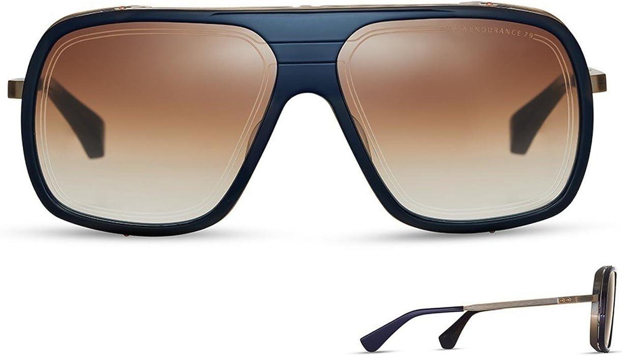 924c8d2fb8f Sunglasses Dita ENDURANCE 79 DTS 104 03 Navy Antique Yellow Gold w  Dark  Brown t at Amazon Men s Clothing store