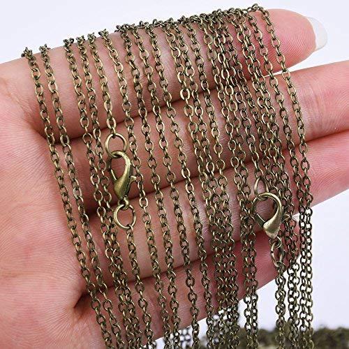 18 inch Length Chain Necklace-2.0x2.5mm link size-20pcs/lot (Antique Bronze) ...