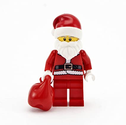 amazon com lego creator holiday minifigure santa claus with red