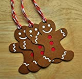 Gingerbread Man Christmas Gift Tags - Set of 10