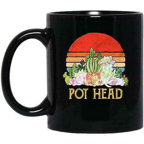 Amazon.com: Tazas de café con cabeza de olla, diseño de ...