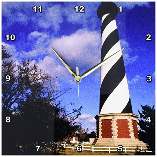 - 3dRose Cape Hatteras Lighthouse, North Carolina US34 BBA0000 Bill Bachmann Wall Clock, 13 by 13