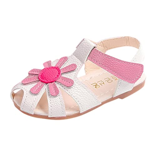 Sandali da ragazza bambini Bambini Bambini Casual Scarpe da spiaggia estive sandali taglia 6-12 - Rosa, JUNIOR 12