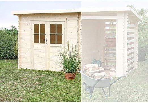 Manigi - Caseta de jardín con Porche de Madera Erika: Amazon.es: Jardín