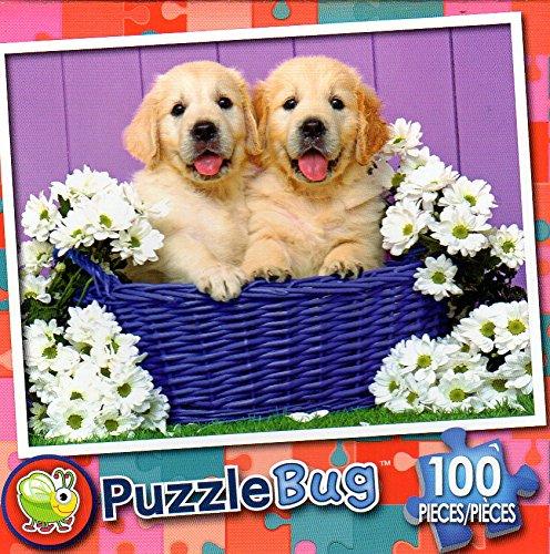 Puppy basket Puppy – Puzzlebug – Puzzlebug 100ピースジグソーパズル basket B079RWZSN7, 仙北町:beb2d667 --- ero-shop-kupidon.ru