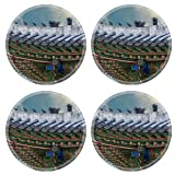 gable roof design MSD Round Coasters Non-Slip Natural Rubber Desk Coasters design 34624426 The gable roof of Deoksugung palace Seoul South Korea