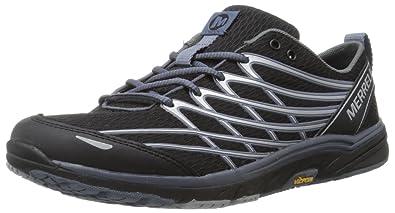 Merrell Women's Bare Access Arc 3 Trail Running Shoe,Black/Silver,5 M