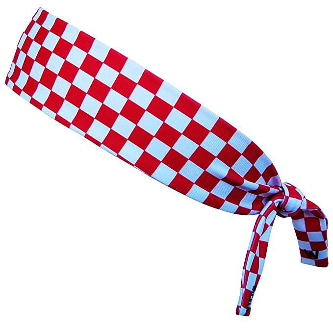 Croatia Red and White Checkerboard Elastic Tie Headband at Amazon ... 5cdd8009867