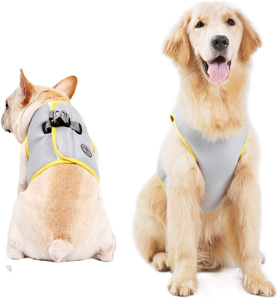 CT COUTUDI Dog Cooling Harness Summer Cooler Jacket Dog Cooling Vest Harness with Adjustable Hook&Loop for Cats Small Medium Large Dog