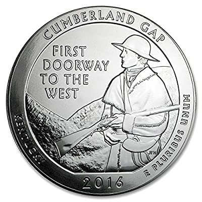 2016 5 oz Silver ATB Cumberland Gap National Historical Park, KY Silver Brilliant Uncirculated