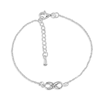 Sistakno Sterling Silver 925 Double Infinity Line Symbol Of