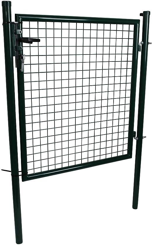 Puerta con postes de puerta verde Jardín de valla jardín hoftor con candado 100 x 100: Amazon.es: Jardín