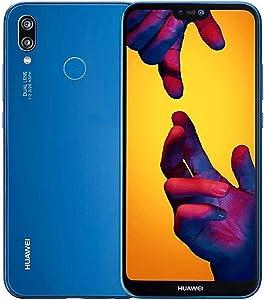 "HUAWEI P20 Lite (32GB + 4GB RAM) 5.84"" FHD+ Display, 4G LTE Dual SIM GSM Factory Unlocked Smartphone ANE-LX3 - International Model - No Warranty (Klein Blue)"