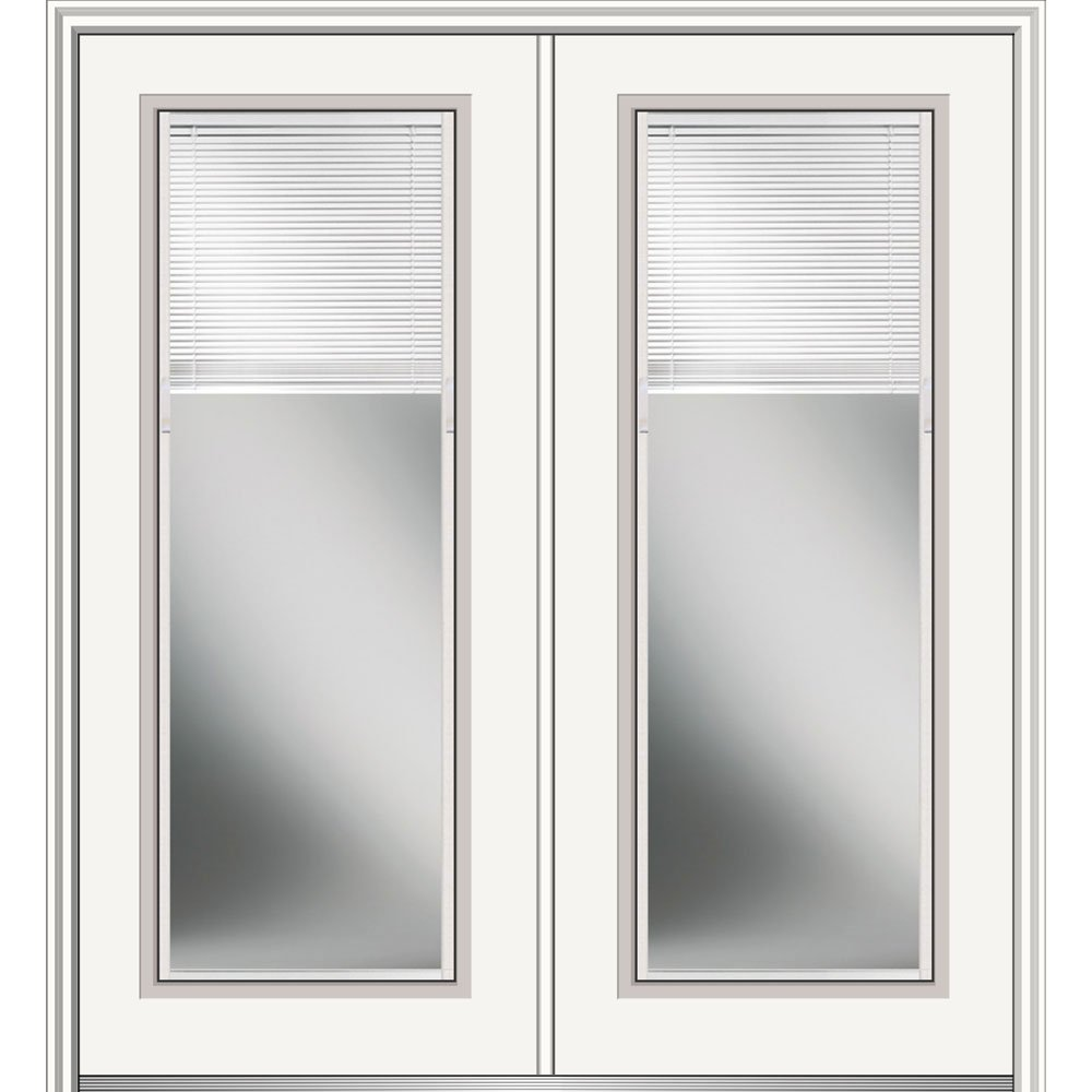 National Door Z029722R Primed Right Hand In-Swing Prehung Front Door, Full Lite, 64'' x 80'', Steel