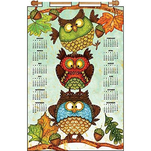 Tobin DW4147 2015 Calendar Felt Applique Kit, 16 by 24-Inch, Fall Owls
