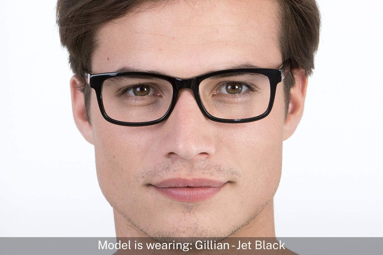 inkl. Zylinder | Gillian Charlie Temple Schwarz Brille mit w/ählbare Sehst/ärke Rechteckige Brille aus Acetat