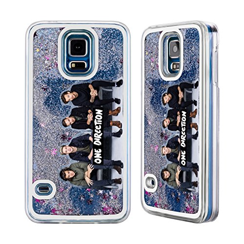 Official One Direction 1D Group 10 Group Photo Liquid Glitter Case For Samsung Galaxy S5 (One Direction S5 Cover compare prices)